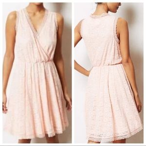 Anthro E by Eloise Lace Chemise Dress Pink SZ S